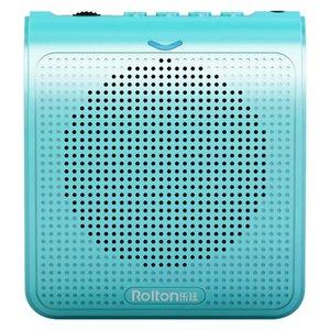 Mikrofon Ses Amplifikatör Taşınabilir Kılavuzu Stereo Ses Mini Konuşma Müzik Çalma Öğretmenler Şarj Bel Kemeri USB ile Pirinç