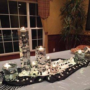 꽃병 필러 DIY를위한 진주 비즈 목걸이 표 분산 결혼식 중앙 장식품 생일 암탉 파티 신부 샤워 장식으로 만들어줍니다