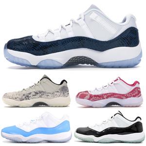New 11 11s top zapatillas de baloncesto populares Snake Navy Light Bone Pink Concord 45 Bred Space Jam Diseñador de zapatillas deportivas deportivo Tamaño 36-47