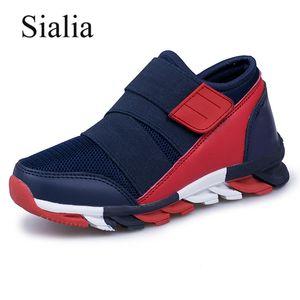 Sialia Spor Çocuklar Sneakers Erkek Ayakkabı Çocuk Sneakers Kızlar Için Rahat Ayakkabılar Nefes Örgü Koşu Eğitmen Shoes Fille Y190525