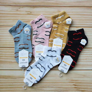 Luxo Ankle Socks Mulheres Sock Chinelos Designer Esportes de algodão tornozeleira Meninas Meias Moda meias curtas Primavera-Verão Sneaker Meias Hot