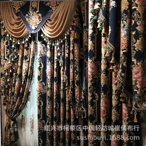 Cortinas europeus para Styles Janela Cortinas para sala de estar elegantes cortinas bordado Europeia