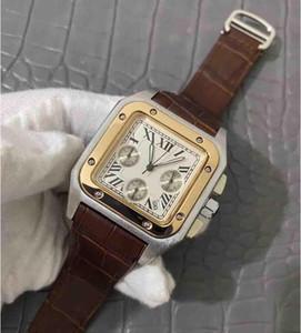 선물 남성 ATMOS 시계 orologio 최고 품질의 고급 석영 시계 DAY 날짜는 전체 기능 시계 가죽 베젤 나비 손목 시계 망