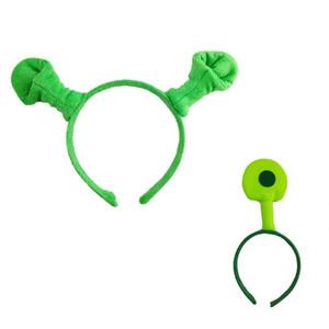 Halloween party косплей зеленый Шрек ET Alien оголовье головной убор для детей и dult день рождения костюм реквизит 10 шт. / лот