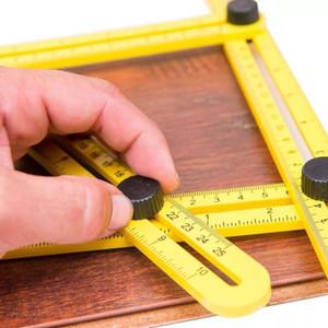 ruler set hand tool Practical Four Folding Plastic Metric Scale Multifunctional Measuring tools Top Sale multi angle ruler