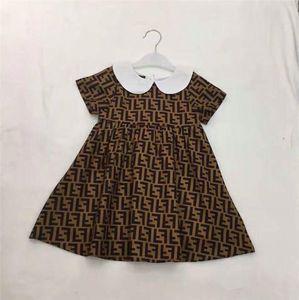Shippping için 2019 Çocuk Kız Moda Elbiseler Bebek Kız Kısa Kollu Elbise Çocuk Toptan Giyim
