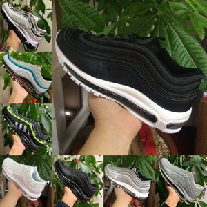 2020 Nike Air Max 97 shoes New Airmax 97 degli uomini Bred imbattuto 97s Triple Bianco Nero nastro di proiettile Sneakers Sean Mens Sport