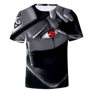 Anime Naruto kakashi camiseta hombres mujeres 3D camiseta naruto cosplay sudaderas naruto kakashi figura de acción camisetas hombres tops
