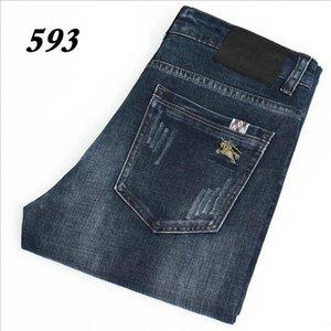 593-2 BJ-Jeans Frühling und Herbst Hosen Thick velveteen Hose Herren Hose Stretch Jeans Baumwollhose Hose gewaschen gerade beiläufige