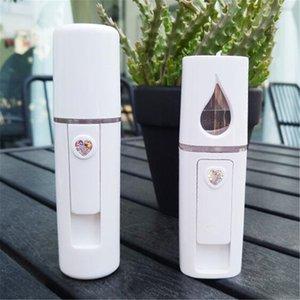 Nano Medidor De Água Da Face de Beleza Instrumento Vapor de Carregamento USB Portátil Nano Spray Umidificador Facial Pulverizador Frio Handheld DHL