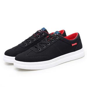 Mode Hommes Femmes chaussures Canva chaussures plates Noir Blanc Rouge Automne Marche des hommes de luxe des femmes de chaussures de sport