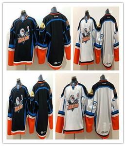 Изготовленные на заказ Gulls San Diego Gulls Blue Road White Shist Chould Double Sticed High Quanlity Бесплатная Доставка Черный Белый Хоккей