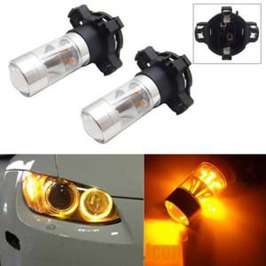 2pcs 2019 de error ámbar amarillo 5200 Libre PY24W Bombillas LED reflector de espejo Diseño Frente luces de giro