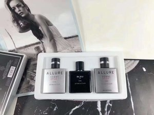 Superiore 25ml * 3 Allure Profumo per gli uomini Allure Con durevole high Fragrance Set contenitore di regalo Trasporto libero