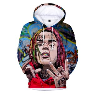 Outono 6ix9ine novo rapper harajuku moletom homens / mulheres 2019 top hoodie 3d popular hoodie impressão moda 3d aikooki 6ix9ine kmjdi