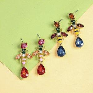 Industrie Accessoires d'eau douce Drip Drop mignon abeilles Boucles d'oreilles Tempérament coréenne style à la mode Boucles d'oreilles