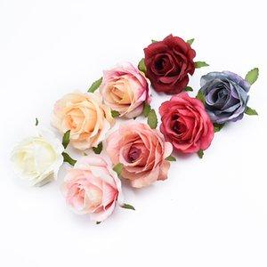 100pcs Silk roses wedding brooch flower wall artificial flowers home decor accessories scrapbooking decorative flowers wreaths