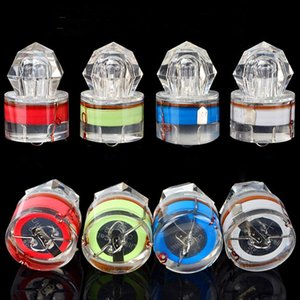 4 Color LED Deep Drop Underwater Diamond Fishing Flashing Light Night Fishing Bait Lure Submersible Lamp Squid Strobe KHA251