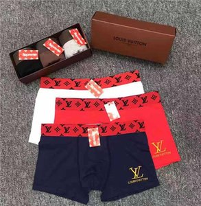 La manera Europa Luxurys bordado para hombre de los calzoncillos de los diseñadores boxeadores sexy ropa interior de algodón masculina calzoncillos hombre ropa interior calzoncillos efewfgwe