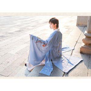 Оптово-Tang Dynasty Древнего китайского костюма Hanfu платье Традиционная китайская одежда для мужчин династии Хань Длинных Одеяний танец Folk Stage