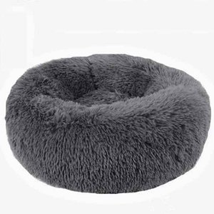 Panier Chat Round Washable Dog Bed Soft Cat House Pet Beds For Dogs House Cat Haustiere Chat Panier Long Plush Dog bed pet dog