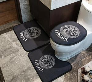 Mektup Tanrıça Tasarım Banyo Paspasları 3 Parça Setleri Otel Banyo kaymaz Halı Aile Banyo Dekorasyon Halı