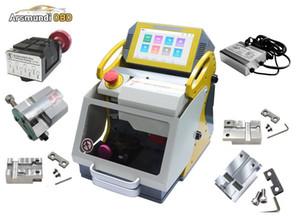 Nueva máquina automática de corte de llaves láser para hacer llaves automotrices SEC-E9 en venta SEC E9 5 abrazaderas + cargador de alimentación