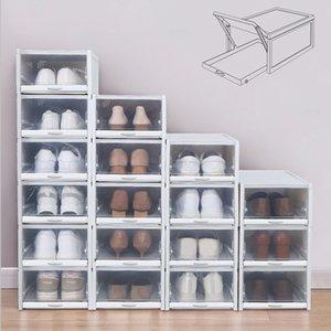 Baffect 3PCS / الكثير الحذاء صناديق رف الأحذية البلاستيكية تكويم صندوق أحذية حذاء منظم للأحذية الكعوب العالية أحذية رياضية التخزين أدراج Y200527