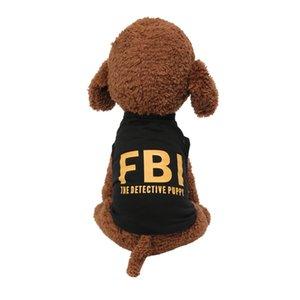 Summer New Dog Pet Gilets Spring FBI Imprimer Respirant Policiers Gilet Mode Puppy Vêtements Dress Up Vêtements animaux de petite taille Produit