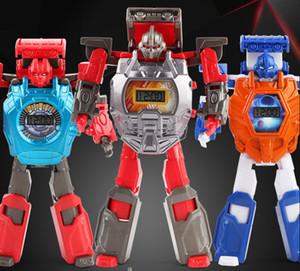Nouvelle déformation enfant robot déformation regarder jouet diamants tourné garçon fille robot modèle poupée 8 voiture