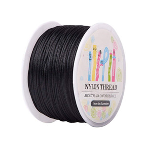 10 Roll 1mm x 100yard Rattail Satin Nylon Trim Cord Nodo cinese Kumihimo String Jewelry Finding