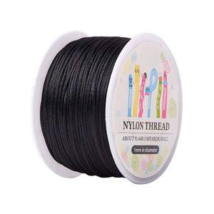 10 Roll 1mm x 100yard Rattail Satin Nylon Trim Cord Nodo cinese Kumihimo String Jewelry Finding