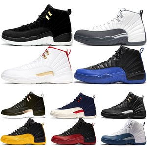New Style 12 Dark Grey 12s Men Basketball Shoes Game Royal Reverse Taxi Black Mens Trainers Sports Sneakers Size 7-13