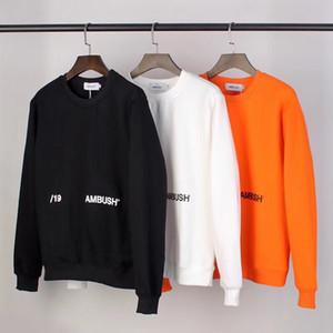 EMBOSCADA casaco de alta qualidade Homens Mulheres 1: 1 camisola Streetwear EMBOSCADA Moletons T200219