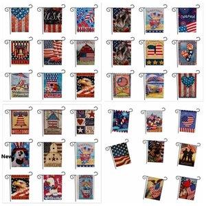 الوجهين 33designs USA الاتحاد حديقة حزب العلم ديكور المنزل العلم الأميركي سلسلة نمط مزدوج حديقة العلم الرئيسية الحديقة ديكور 47 * 32CM 50PCS FFA1929