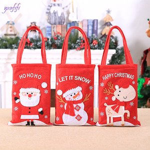 Tote Decoration Applique Bag Claus Bag Christmas Mini Borsa da stoccaggio Panno Candy Elk Snowman Christmas 1pcs Gift Bambino Borsa Santa GNGTP