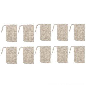 10 Paketi Doğal Sisal Sabun Çanta Kese Sabun Tasarrufu Kılıfı Tutucu Diğer Banyo Tuvalet Bath Malzemeleri