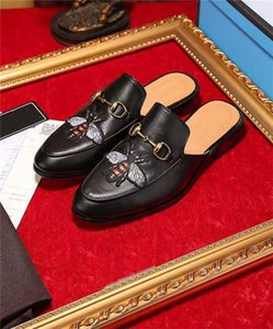Mode Femmes Hommes Luxe cuir Mocassins Muller Mocassins Chaussures avec boucle pantoufle Tiger Chaussons Avslappnad Mules Flats Chaussures xshfbcl