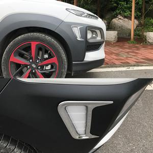 JY 2 piezas de ABS luz de marcador lateral cubierta del coche que labra los accesorios de la cubierta para Hyundai Kona 2017 2018