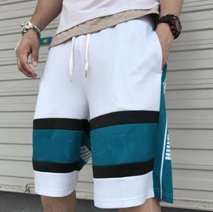 Новые письма печати баскетбольные мужские шорты дизайн волна уличной одежды хип-хоп мужчины бегуны сыпучие животных шорты для мужчин