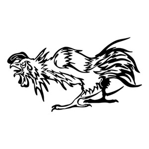 16,5 * 9.2cm Chicken Fighting Body Fashion Autocollants voiture drôle Rooster Carrosserie Stickers accessoires auto