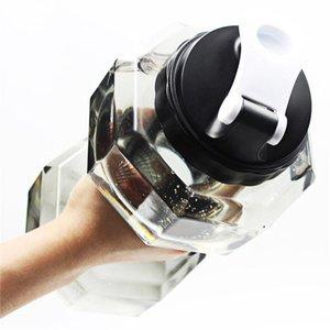 Hot Sale Dumbbell Garrafa de água, Dumbbell Shaped Esporte Viagem Drink Bottle equipamento Gym Fitness exercício frasco Cup água 2.2L 0008ce0 #