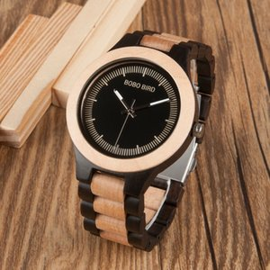 Bobo Bird Male Antique Wooden Watches Lo01o02 With Wooden Band Fashion New Uomo Orologio Japan In Gift Box Y19052103