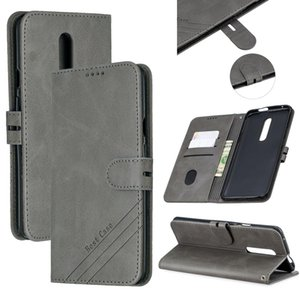 For One Plus 7 Pro Stitching Style 2-Color Cow Texture Horizontal Flip PU Leather Case with Holder & Card Slot & Lanyard