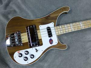 NEW ric 4003W Neck Thru Body Walnut Body Bass RARE TRANSLUCENT WALNUT vintage 4003 Electric Bass Guitar One PC Neck & Body