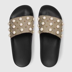 MEILLEURE Qualité Designer Sandales Mode Femmes Rayé Diapositives Vitesse Bas Prix Causal Non-Slip D'été Huaraches Pantoufles Tongs Taille 5-11
