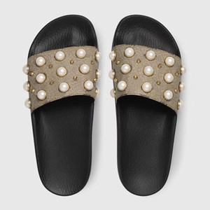 BESTE Qualität Designer Sandalen Mode Frauen Gestreiften Rutschen Getriebe Böden Kausal Rutschfeste Sommer Huaraches Hausschuhe Flip Flops Größe 5-11