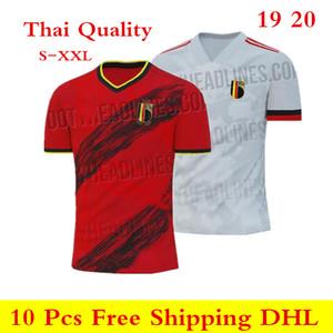 Thai quality 19 20 Belgium jersey 2019 2020 home red away white LUKAKU FELLAINI E.HAZARD soccer jerseys DE BRUYNE Football shirts S-XXL