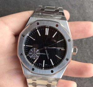 mens luxo de alta qualidade relógios XF versão 39 milímetros Royal Oak 15202 15400 jumbo 8,5 milímetros extra-fino Japão Miyota 9015 Cal.2121? movimento automático