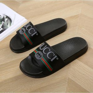 Gucci Men Women Genuine Leather Slip-resistant Slides Summer Beach Flat Cover Flip G Slippers Sandals House Flops with Spike Slides Sandal